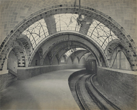 "Original City Hall station, IRT Lexington Avenue ""Brooklyn Bridge Station"" Loop of local train, 1904"